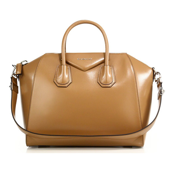 GIVENCHY Antigona medium glazed leather satchel - A timeless, highly coveted style from Givenchy, this...