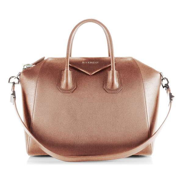 GIVENCHY Antigona medium leather satchel - Sophisticated satchel crafted of sugar leather, which...