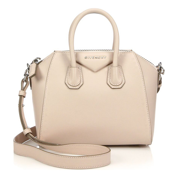 GIVENCHY Antigona mini leather satchel - A sleek, sculptural silhouette defines the look of this...