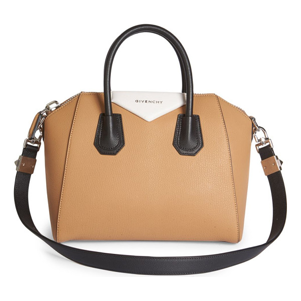 GIVENCHY antigona small tri-tone leather satchel - Iconic structured satchel updated in tri-tone design.