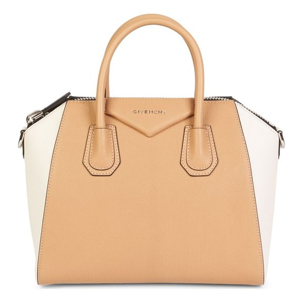 GIVENCHY Antigona Two-Tone Leather Shoulder Bag