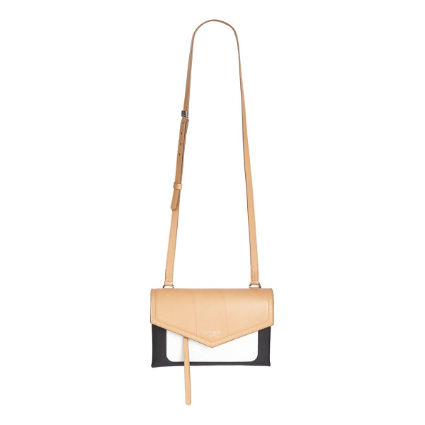 GIVENCHY duetto tri-tone leather crossbody bag - Smooth colorblock leather crossbody with envelope flap....