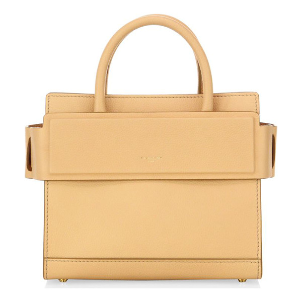 GIVENCHY horizon mini grained leather tote - Structured leather silhouette with banded top panel. Double...