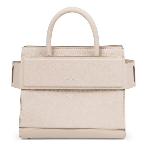 GIVENCHY horizon mini leather tote - Structured grained leather style with banded top panel....