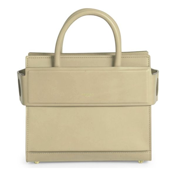 GIVENCHY horizon mini smooth leather tote - Structured leather silhouette with banded top panel. Double...