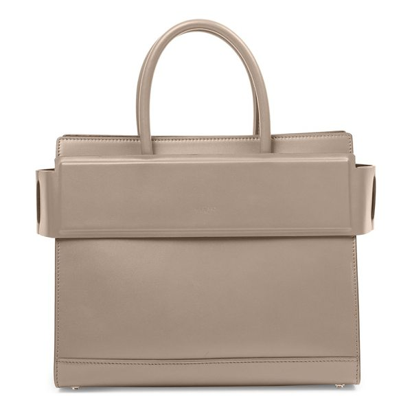GIVENCHY horizon small smooth leather tote - Structured leather silhouette with banded top panel. Double...