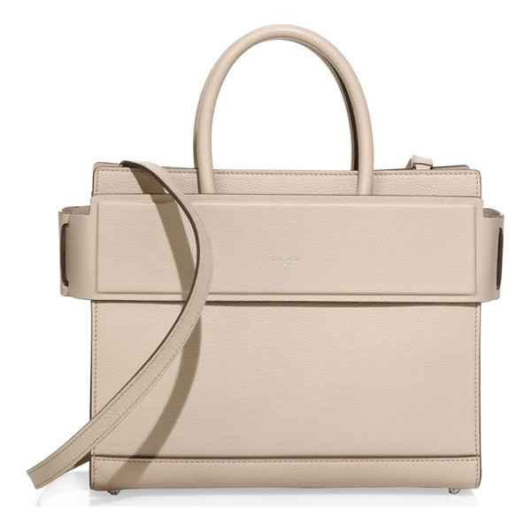 GIVENCHY horizon small leather tote - Structured leather silhouette with banded top panel. Double