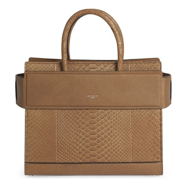GIVENCHY horizon small python tote - Structured silhouette of luxe panels with banded top....