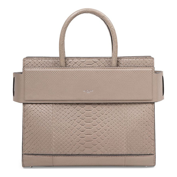 GIVENCHY horizon small python tote - Structured python silhouette with banded top panel. Double...