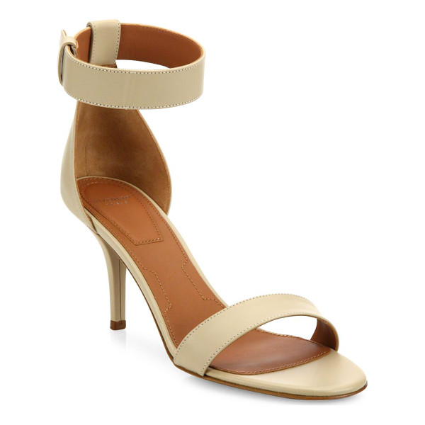 GIVENCHY infinity line leather ankle-strap sandals - Streamlined leather sandal set on just-right heel....