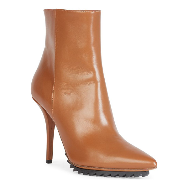 GIVENCHY iron line leather point-toe ankle boots - Sharp leather point-toe boot on treaded rubber sole....
