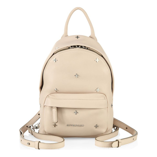 GIVENCHY nano cross-studded leather backpack - Sized-down leather backpack with polished cross studs. Top