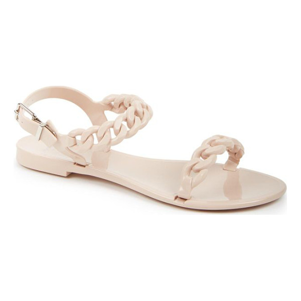 GIVENCHY nea jelly flat sandals - A sleek chainlink-strap design provides a modern update to...