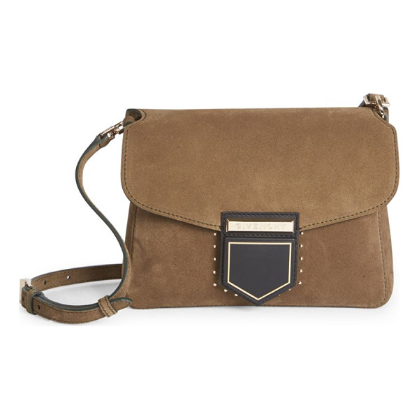 GIVENCHY nobile small studded suede shoulder bag - Convertible studded suede bag with geometric clasp.