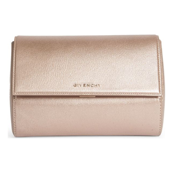 GIVENCHY pandora box metallic leather clutch - Small structured clutch in glamorous metallic leather....