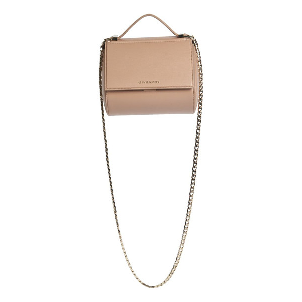 GIVENCHY Pandora box mini textured leather chain crossbody bag - Classic structured design with sleek chain strap. Top...