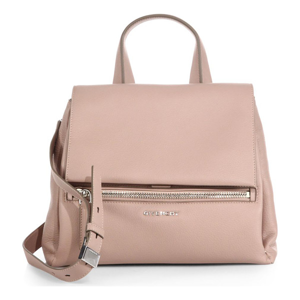 GIVENCHY Pandora pure small flap shoulder bag - Crafted from rich pebbled leather and finished with radiant...