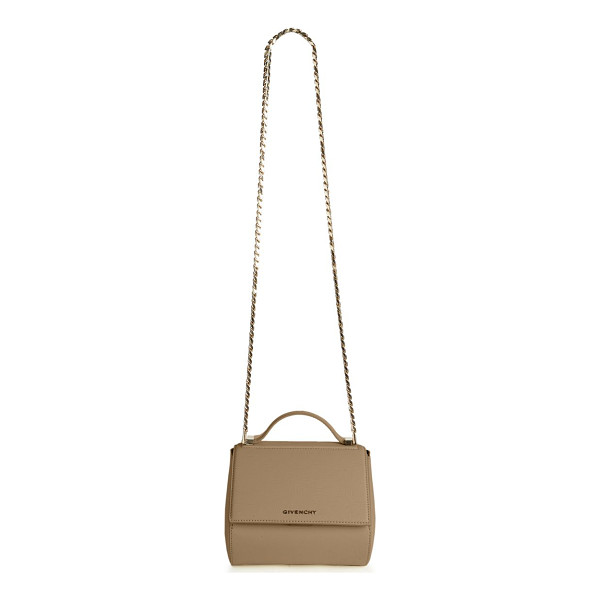 GIVENCHY Pandroa box mini textured leather chain crossbody bag - Classic structured design with sleek chain strapTop handle,...
