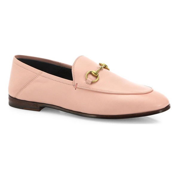 GUCCI brixton foldable leather loafers - Designed to be worn with the heel folded down as a slipper...