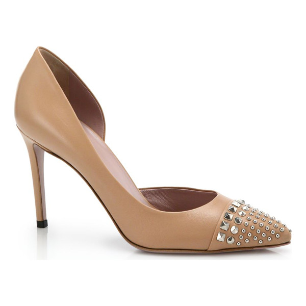 "GUCCI Coline stud pumps - Self-covered heel, 3"" (75mm)Leather upperPoint toe with..."