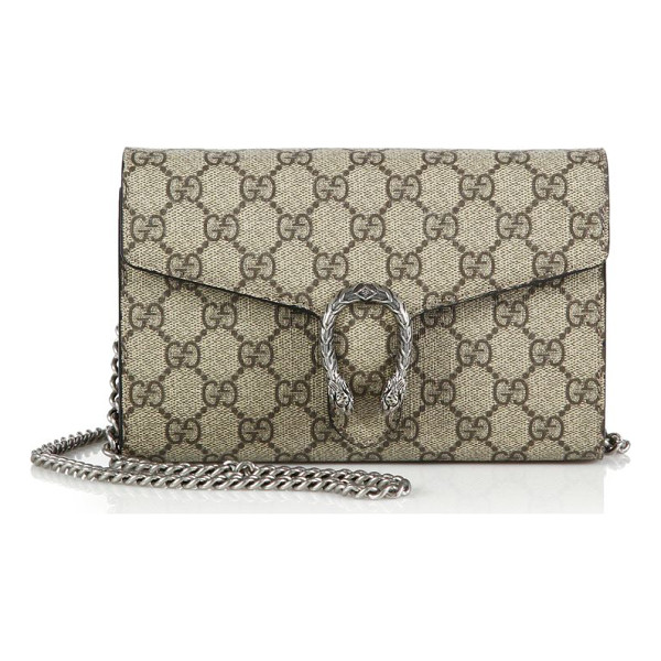 GUCCI Dionysus coated canvas chain-strap wallet - Compact yet versatile, this chain-strap wallet is crafted...