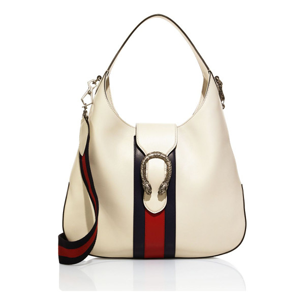 "GUCCI dionysus leather hobo bag - Top handle, 7"" drop. Removable web shoulder strap, 22""..."