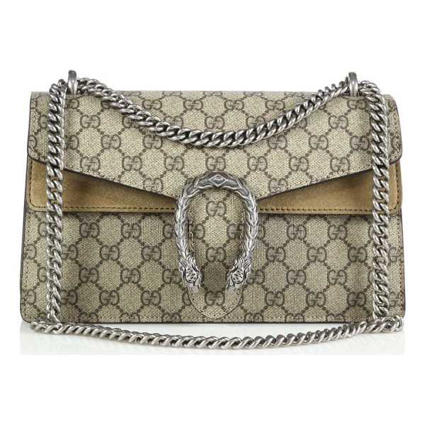 GUCCI dionysus gg supreme small coated canvas shoulder bag - Crafted from signature coated canvas made using an...