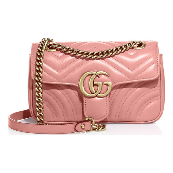 "GUCCI gg 2.0 mini quilted leather shoulder bag - Adjustable chain shoulder strap, 11.75"" or 21.5"" drop. Pin..."