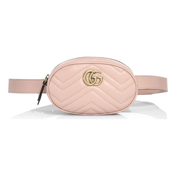 GUCCI gg marmont matelasse leather belt bag - Part of the GG Marmont line, the belt bag was presented for...