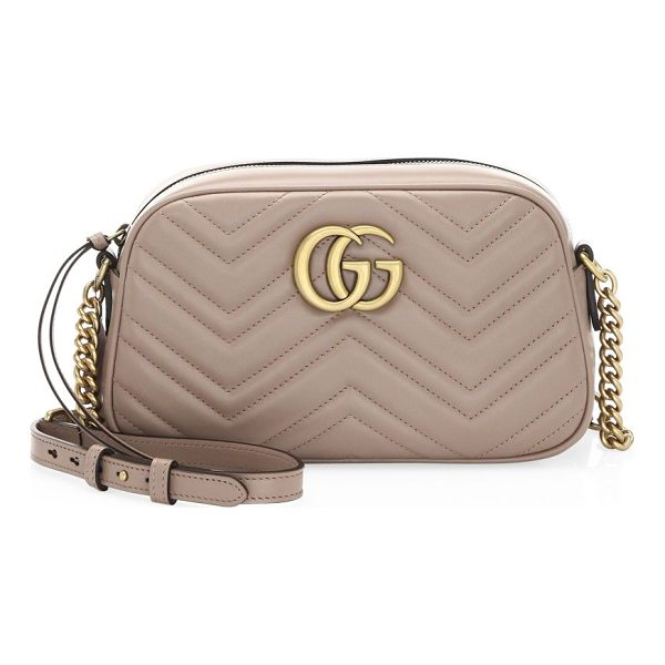 """GUCCI gg small matelasse leather camera bag - Adjustable chain-and-leather shoulder strap, 23.5"""" drop...."""