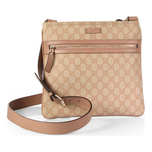 GUCCI Gg supreme canvas flat messenger - GG supreme canvas, made using an earth-conscious process,...