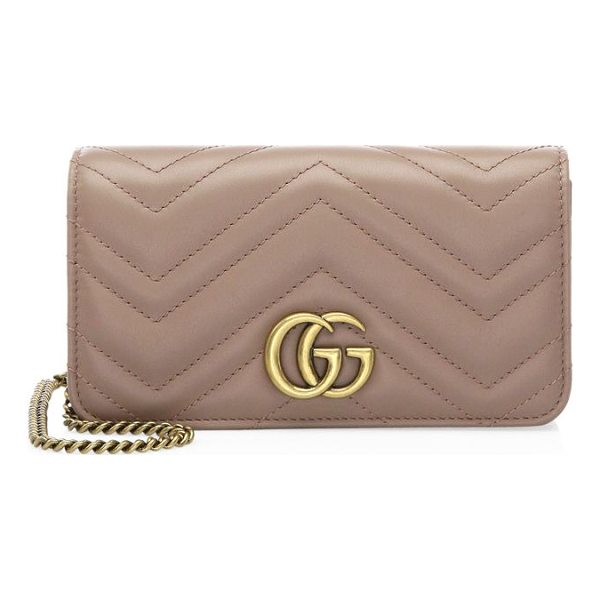 GUCCI marmont 2.0 leather crossbody bag - Chevron crossbody bag crafted of matelasse leather. Double...