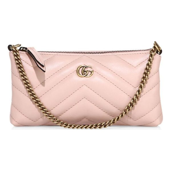 GUCCI gg marmont wristlet - Chain strap. Top zip closure. Goldtone hardware. Fully...
