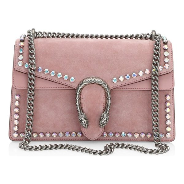 GUCCI small dionysus crystal-embellished suede chain shoulder bag - Sliding chain strap can be worn as a shoulder strap with...