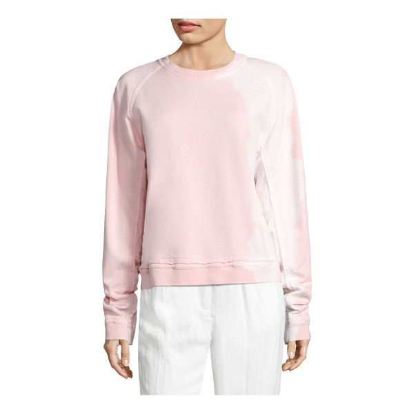 HAIDER ACKERMANN cotton long sleeve sweatshirt - Raw edge trim details this cotton sweatshirt. Roundneck....