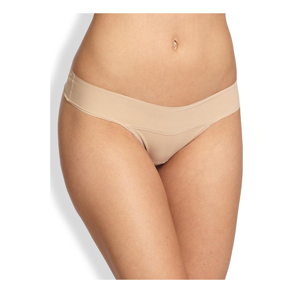 HANKY PANKY bare eve natural-rise thong - Made from a unique second-skin microfiber knit from Italy...