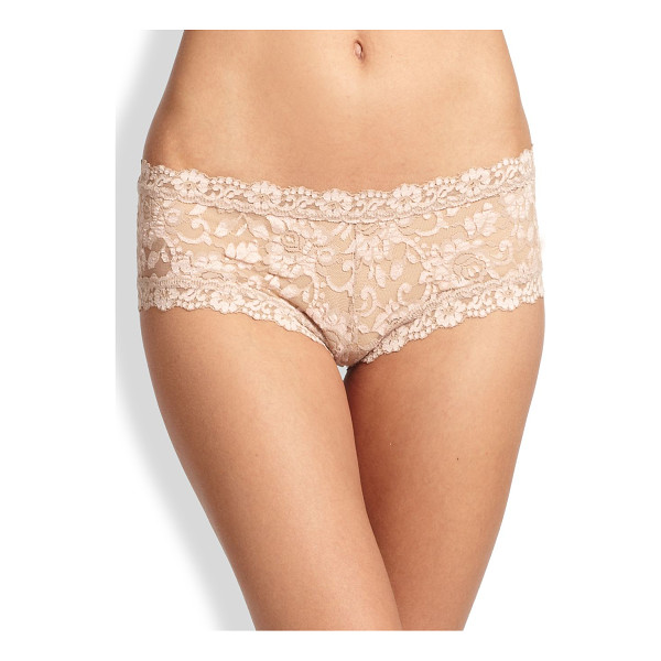 HANKY PANKY lace boyshorts - Alluring wardrobe staple shaped in delicate floral lace....