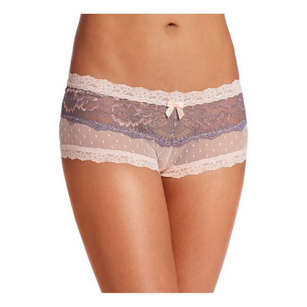 HANKY PANKY Emma mesh boyshort - Point d'espirit mesh and galloon lace combine prettily to...