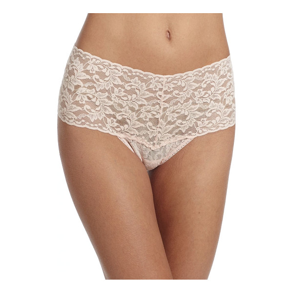 HANKY PANKY retro thong - Made from signature stretch lace, only Hanky Panky could...