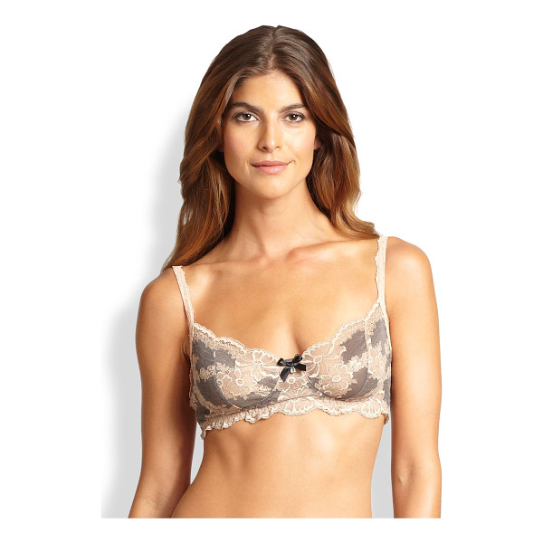 HANKY PANKY Truly decadent bralette - Featuring cross-dyed lace and a balconette-style...