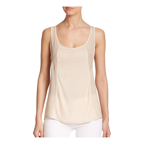 HAUTE HIPPIE Big easy scoopneck tank top - A sheer finish transforms this signature tank from classic...