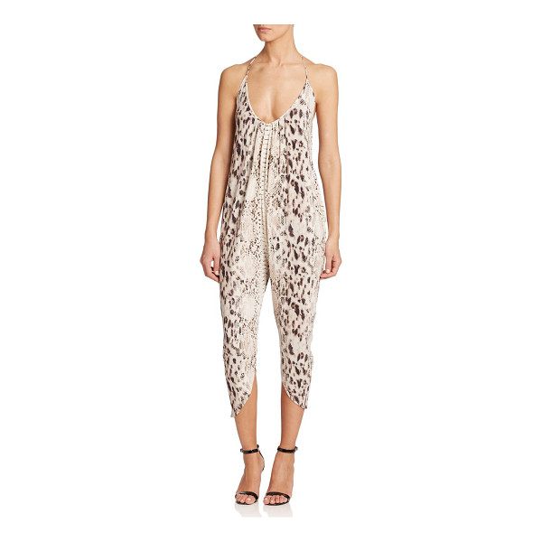 HAUTE HIPPIE Cropped halter jumpsuit - Crafted in soft modal, an allover exotic print adds a wild...