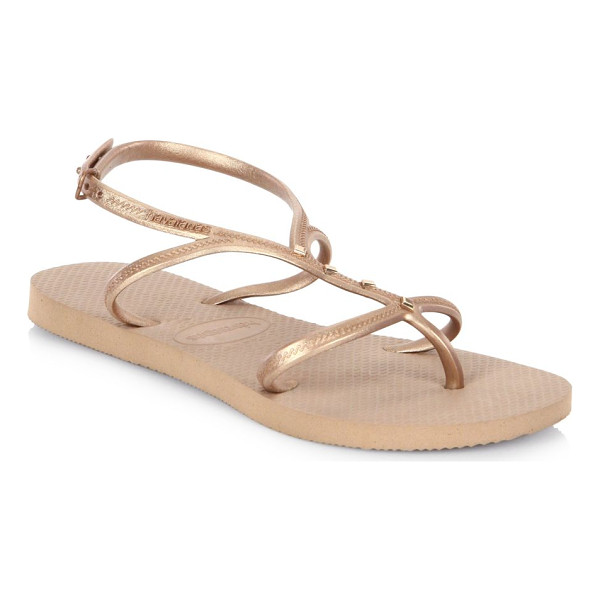 HAVAIANAS allure maxi sandals - Patterned cushioned footbed updates these sandals. PVC...