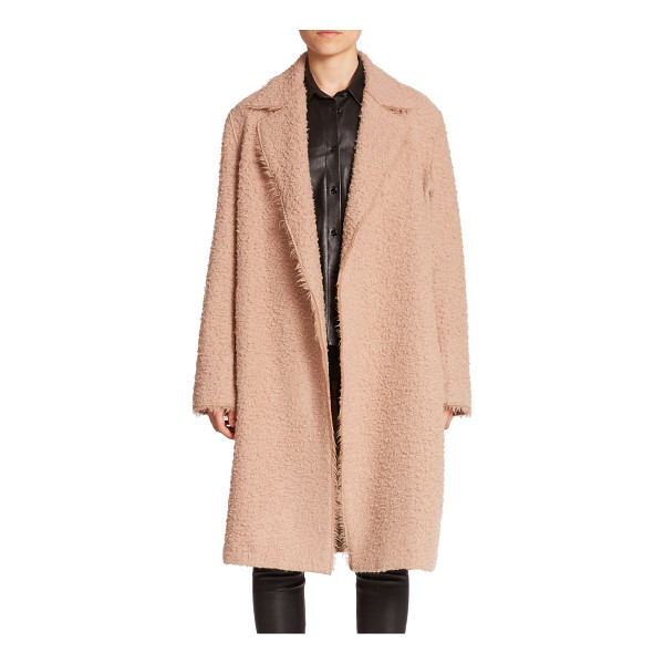 HELMUT LANG Shaggy alpaca & virgin wool coat - Alpaca and virgin wool blend to form this shaggy topper, a...