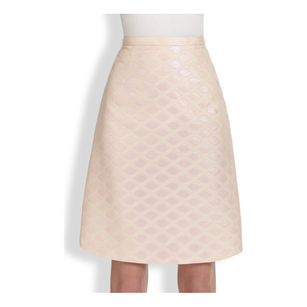 HONOR Geometric brocade skirt - A flattering, feminine A-line design, tailored from...