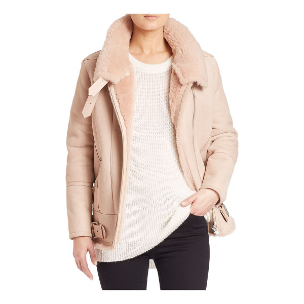 IRO barrett lamb shearling coat - Stylish leather coat with soft shearling interior....
