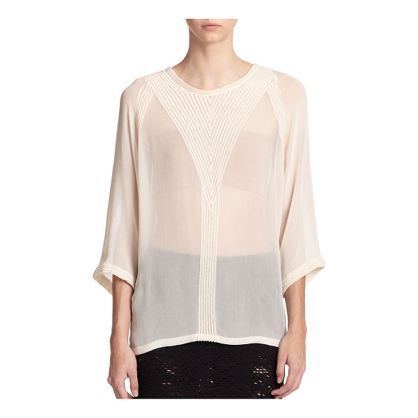 IRO Embroidered chiffon blouse - Richly embroidered ribbing details the front, back and...