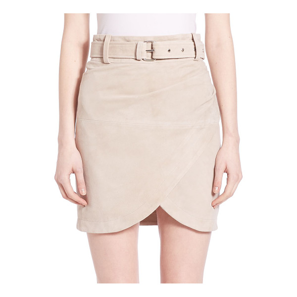 IRO Olsen suede crossover skirt - Crossover design offers an elegant draping lookBelted...