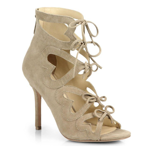 ISA TAPIA Ghillie heart-cutout suede lace-up sandals - Heart cutouts stamp these effortlessly glamorous lace-up...
