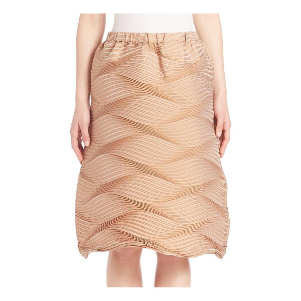 ISSEY MIYAKE Palm tree skirt - Textural pleated waves shape effortless pull-on...
